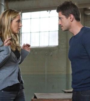 Jordana Spiro and James Carpinello in The Mob Doctor. Image © FOX