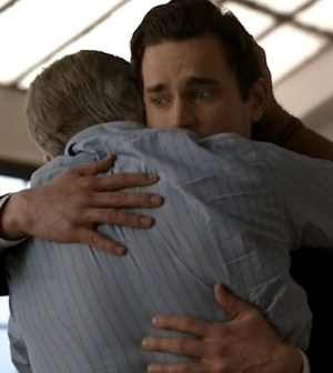 Treat Williams as James Bennett and Matt Bomer as Neal Caffrey (Image © USA Network)