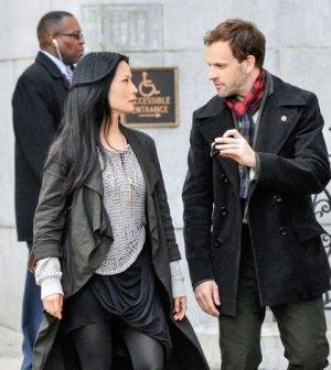 Lucy Liu and Jonny Lee Miller in CBS' Elementary