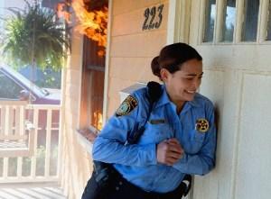 Pictured: Natalie Martinez as Deputy Linda. Photo: Michael Tackett/©2013 CBS Broadcasting Inc.
