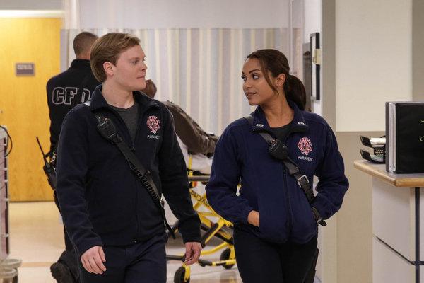 Pictured: (l-r) Alex Weisman as Chout, Monica Raymund as Gabriela Dawson -- (Photo by: Elizabeth Morris/NBC)
