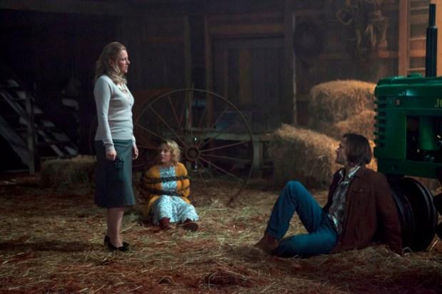 Eve Gordon as Sister Joy, Sarah Smyth as Bess, and Jared Padalecki as Sam -- Credit: Katie Yu/The CW