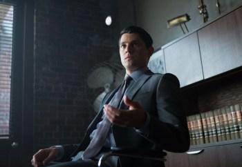 Nicholas D'Agosto as Harvey Dent. Co. Cr: Jessica Miglio/FOX