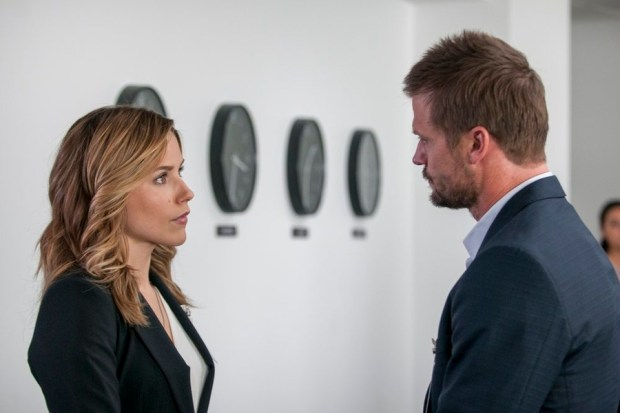 Pictured: (l-r) Sophia Bush as Erin Lindsay, Bailey Chase as David Lang -- (Photo by: Matt Dinerstein/NBC)