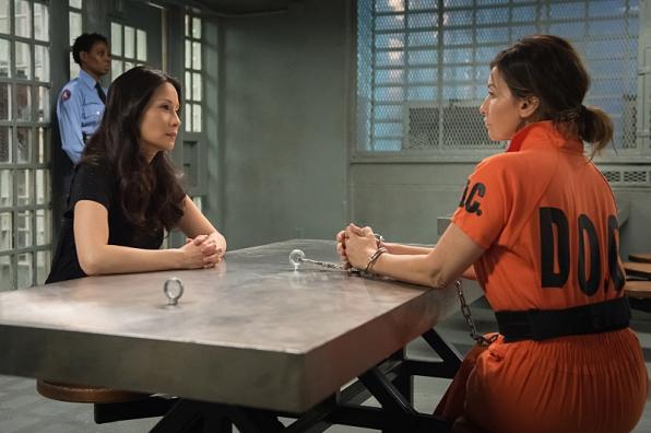 Joan confronts Elana. Image © CBS