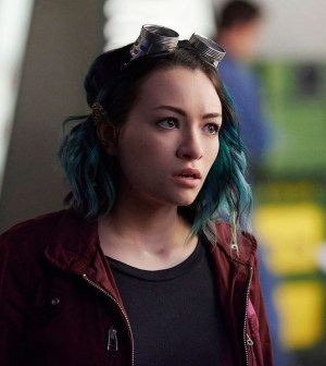 Pictured: Jodelle Ferland as Five -- (Photo by: Russ Martin/Prodigy Pictures/Syfy)