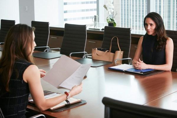 "SUITS -- ""Mea Culpa"" Episode 508 -- Pictured: Meghan Markle as Rachel Zane -- (Photo by: Ian Watson/USA Network)"