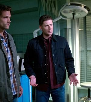 Pictured (L-R): Jared Padalecki as Sam and Jensen Ackles as Dean -- Photo: Diyah Pera/The CW