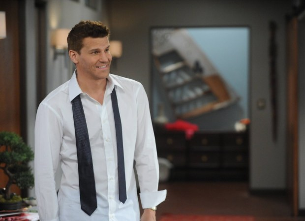 """BONES: Booth (David Boreanaz) in the """"The Donor in the Drink"""" episode of BONES airing Thursday, Oct. 15 (8:00-9:00 PM ET/PT) on FOX. ©2015 Fox Broadcasting Co. Cr: Ray Mickshaw/FOX"""
