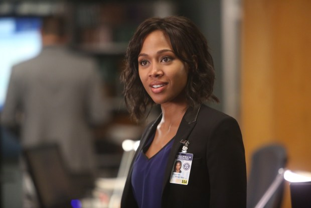 """BONES:  Guest star Nicole Beharie (Abbie Mills) in the special """"The Resurrection in the Remains"""" BONES/SLEEPY HOLLOW crossover episode of BONES airing Thursday, Oct. 29 (8:00-9:00 PM ET/PT) on FOX.  ©2015 Fox Broadcasting Co.  Cr:  Jordin Althaus/FOX"""