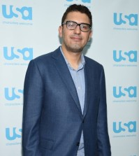 """NEW YORK COMIC CON -- """"Colony and Mr. Robot Press Room"""" -- Pictured: Sam Esmail -- (Photo by: Mike Coppola/USA)"""