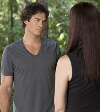 Pictured (L-R): Ian Somerhalder as Damon and Annie Wersching as Lily -- Photo: Bob Mahoney/The CW