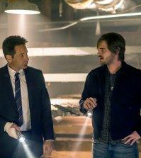 "AQUARIUS -- ""I'm So Tired"" Episode 201 -- Pictured: (l-r) David Duchovny as Sam Hodiak, Grey Damon as Brian Shafe -- (Photo by: Ron Batzdorff/NBC)"