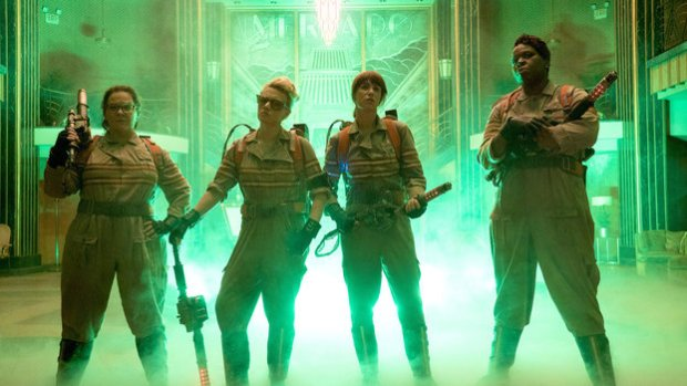 The Ghostbusters Cast (L-R) Melissa McCarthy, Kate McKinnon, Kristen Wiig, and Leslie Jones