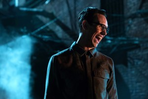 "GOTHAM: Cory Michael Smith in the ""Heroes Rise: All Will Be Judged"" episode of GOTHAM. Cr: Jessica Miglio/FOX"