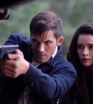 Pictured: (l-r) Matt Lanter as Wyatt Logan, Abigail Spencer as Lucy Preston -- (Photo by: Sergei Bachlakov/NBC)