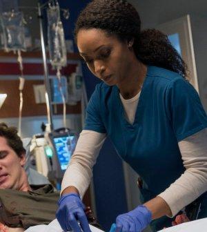 Pictured: (l-r) Nick Marini as Danny, Yaya DaCosta as April Sexton -- (Photo by: Elizabeth Sisson/NBC)