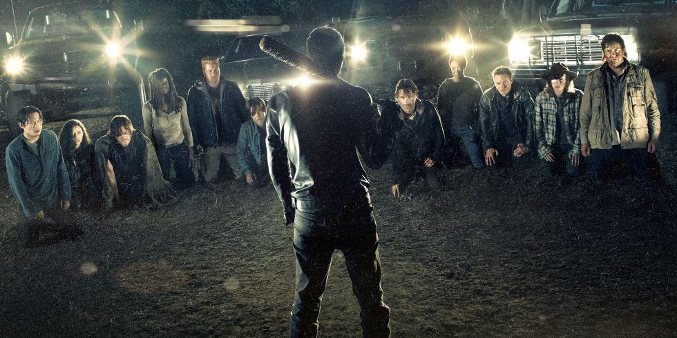 Negan's Line Up in The Walking Dead Season 7 | Photo © AMC