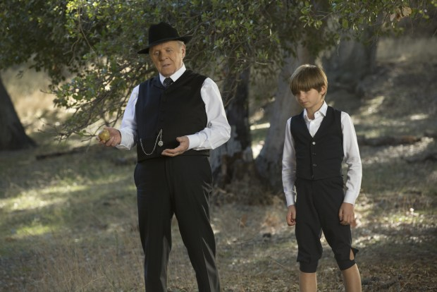 Anthony Hopkins as Dr. Robert Ford, and Oliver Bell as Little Boy | Credit John P. Johnson/HBO