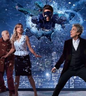 Nardole (MATT LUCAS), Lucy Fletcher (CHARITY WAKEFIELD), The Ghost (JUSTIN CHATWIN), The Doctor (PETER CAPALDI) - (C) BBC - Photographer: Ray Burmiston