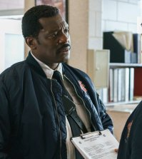 Pictured: (l-r) Eamonn Walker as Wallace Boden, Jesse Spencer as Matthew Casey -- (Photo by: Parrish Lewis/NBC)
