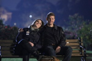 """BONES: L-R: Emily Deschanel and David Boreanaz in """"The Final Chapter: The End in the End"""" 