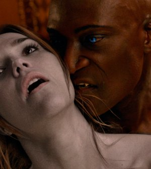 "MIDNIGHT, TEXAS -- ""Pilot"" -- Pictured: (l-r) Arielle Kebbel as Olivia, Peter Mensah as Lemuel -- (Photo by: NBC)"
