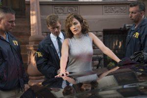 "SHADES OF BLUE -- ""Ghost Hunt"" Episode 203 -- Pictured: (l-r) Warren Kole as Robert Stahl, Jennifer Lopez as Harlee Santos -- (Photo by: Peter Kramer/NBC)"