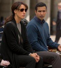 "TAKEN -- ""A Clockwork Swiss""  Episode: 105 -- Pictured: (l-r) Jennifer Beals as Christina Hart, Saad Siddiqui as Dyer -- (Photo by: Panagiotis Pantazidis/NBC)"