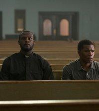 "TAKEN -- ""Hail Mary""  Episode: 106 -- Pictured: (l-r) Ryan Allen as George, Gaius Charles as John -- (Photo by: Panagiotis Pantazidis/NBC)"