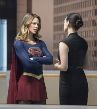 "Supergirl -- ""Exodus"" -- Pictured (L-R): Melissa Benoist as Kara/Supergirl and Katie McGrath as Lena Luthor -- Photo: Dean Buscher/The CW"