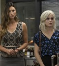"""iZombie -- """"Eat, Pray, Liv"""" -- Pictured (L-R): Aly Michalka as Peyton and Rose McIver as Liv -- Photo: Jack Rowand/The CW"""