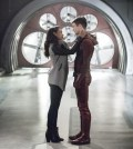 """The Flash -- """"Infantino Street"""" --  Pictured (L-R): Candice Patton as Iris West and Grant Gustin as Barry Allen -- Photo: Dean Buscher /The CW"""