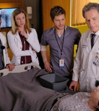 THE RESIDENT:  L-R:  Manish Dayal, Emily VanCamp, Matt Czuchry and Bruce Greenwood in THE RESIDENT premiering midseason on FOX.  ©2017 Fox Broadcasting Co.  Cr:  Guy D'Alema/FOX