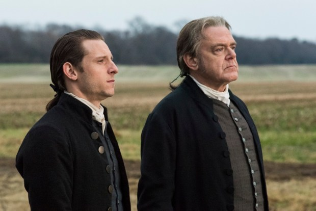 Kevin McNally as Richard Woodhull, Jamie Bell as Abe Woodhull -- Season 4, Episode 1 - Photo Credit: Antony Platt/AMC