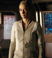 "DARK MATTER -- ""Hot Chocolate"" Episode 308 -- Pictured: Zoie Palmer as The Android -- (Photo by: Stephen Scott/Dark Matter Series 3/Syfy)"