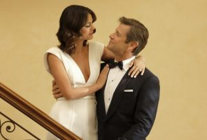 """Dynasty -- """"Pilot"""" Pictured (L-R): Nathalie Kelley as Cristal and Grant Show as Blake -- Photo: Mark Hill/The CW"""