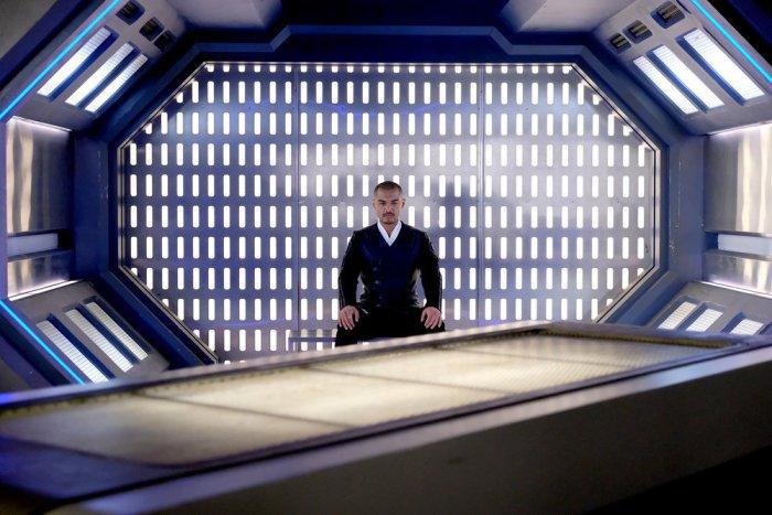 """DARK MATTER -- """"My Final Gift To You"""" Episode 312 -- Pictured: Alex Mallari Jr. as Four -- (Photo by: Stephen Scott/Dark Matter Series 3/Syfy)"""