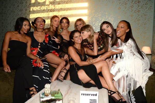 Taylor Swift's celebrity squad.
