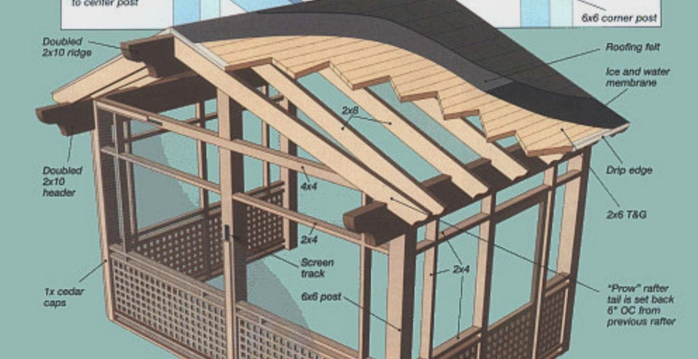 how to build a screen porch onto an
