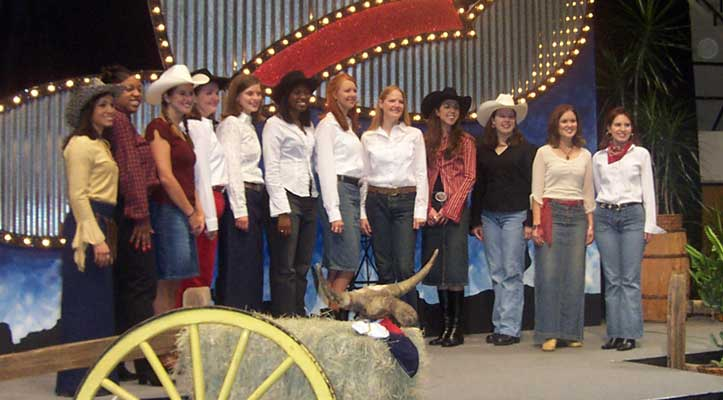2002 Homecoming Court Nominees (it was a Texas theme - we didn't usually dress like that, ok? Even being from Texas. :))