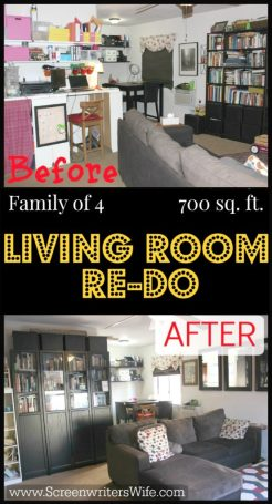 Family of 4. 700 Sq. Ft. How we make it work and the recent living room update I did to make the space seem even bigger.