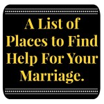 Where to To Find Help for Your Marriage