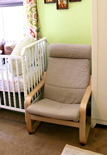 ikea poang nursery chair