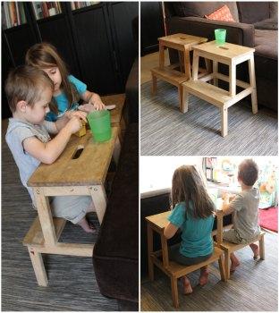 Ikea BEKVAM stools kids desk