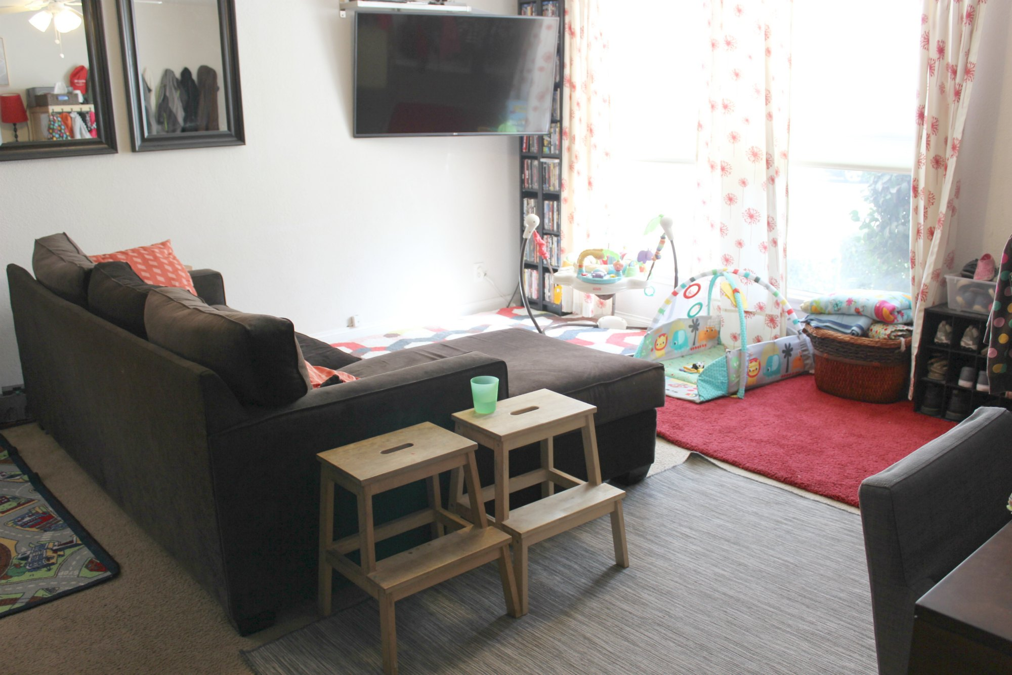 700 sq ft Family of 5 Our Small Home Living Room Area