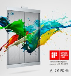 awarded for excelency in design xt series transparent led display  [ 900 x 900 Pixel ]