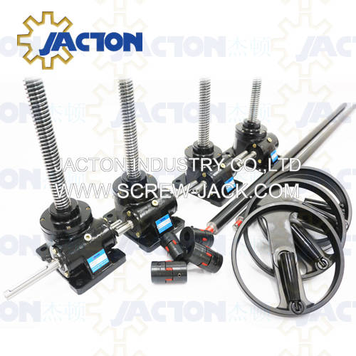 industrial hand crank jack screw,manual operated worm gear