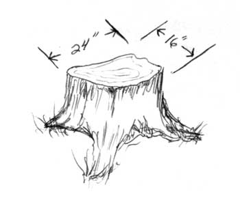 List of Synonyms and Antonyms of the Word: stump drawing