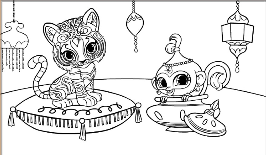 30 Magical Shimmer And Shine Coloring Pages